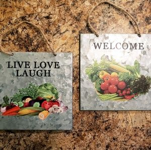🎈🎈Set of Two Cute Wall Hangings For Kitchen🎈🎈